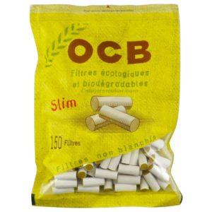 Filtres, Filtre en mousse, filtre Slim BIO, filtres à cigarette bio, filtre OCB pas cher, filtres biodégradables