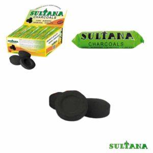 Charbons, charbon à narguilé sultana, narguilé sultana, sultana, charbon 33mm, charbon chicha sultana 33mm, sultana 33mm, sultana charbon,