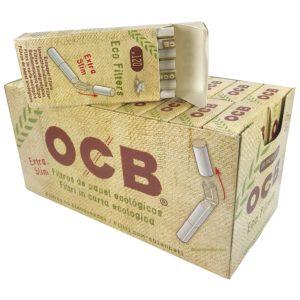 Filtre BIO OCB, OCB, rouleurs de cigarette, Filtre ultra slim biodégradable, filtres biodégradables, filtre en acétate