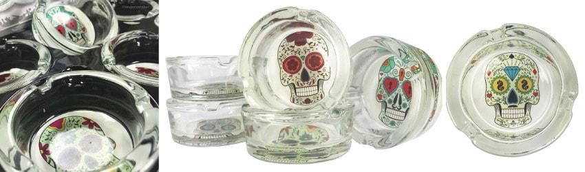 Cendrier en verre, cendrier de table, cendrier tête de mort, cendrier Mexican Skull, Cendrier stylé, cendrier fantaisie, cendrier moderne, cendrier pas cher, cendrier terrasse, Cendrier originale, cendrier design, Tête de mort