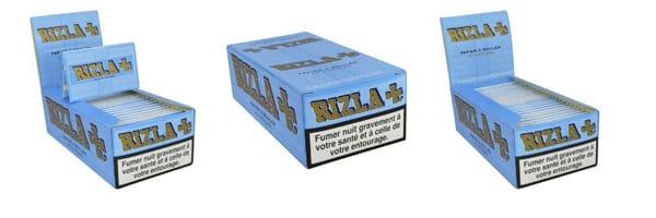 RIZLA +, feuilles à rouler, cigarette, accessoires fumeurs, feuille Rizla, Feuille à rouler rizla bleu, Papier à rouler pour cigarette