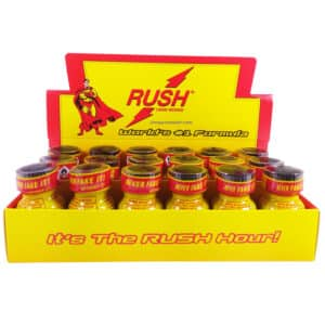Poppers Rush, Poppers Rush Original, display poppers Rush, boite de poppers, Poppers Rush pas cher, poppers stimulant, aphrodisiaque, Poppers petit prix