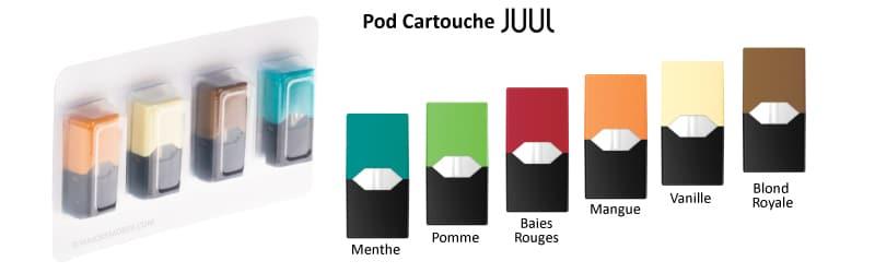 Pod JUUL, recharges juul, juul, saveur juul, juul eliquide, pod mod, compatible vaze, saveur eliquide