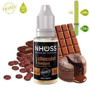 E-liquide NHOSS, Nhoss chocolat fondant, E-liquide, e liquide, e-liquide gourmand chocolat, e liquide saveur chocolat fondant, e-liquide pas cher, eliquide, eliquid France, e-liquide France, e liquide français, e liquide français pas cher, PG 65% / VG 35%, PG 50% / VG 50%