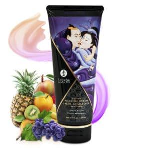 creme de massage, creme massage comestible fruits exotiques, crème massage shunga, massage, creme massage pas cher, huile de massage, shunga, crème massage comestible shunga