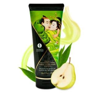 creme de massage, creme massage comestible Thé vert, crème massage shunga, massage, creme massage pas cher, huile de massage, shunga, crème massage comestible shunga