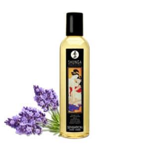 huille massage Lavande shunga, shunga Sensation Lavande huile massage, huile massage pas cher, massage chauffant, huile de massage, huile massage aphrodisiaque, shunga, huile de massage shunga