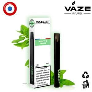 Vaze jet menthe verte, pod menthe, vaze pod menthe pas cher, cigarette menthe, cigarette electrique menthol, vaze menthe prix