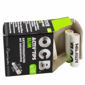 paquet de filtre ocb, filtre ocb pas cher, ocb activ'tips, filtre à cigarette, filtre charbon actif ocb, buraliste en ligne, ocb activ tips, filtre slim, prix ocb filtre, filtre ocb