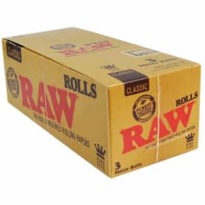 raw rolls, rolls slim, feuille a rouler, rouleau de papier à cigarette, boite de rolls, papier à rouler raw, papier hyper fin, bureau de tabac en ligne, feuille en rouleau king size, rolls king size