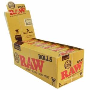 rouleau raw, papier à cigarette raw, raw rolls, rolls slim, boite de feuille à rouler, feuille en rouleau king size, feuille à rouler 100% naturel, papier raw pas cher, feuille rolls, papier hyper fin