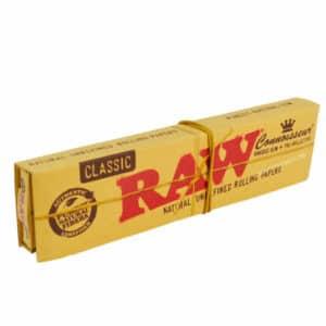 RAW connoiseur, slim connoisseur raw, slim tips, tips raw, tips, raw classic slim, raw classic paper, feuille raw pas cher, feuille à rouler, feuille à rouler slim tips, feuille slim, feuille raxw classic prix