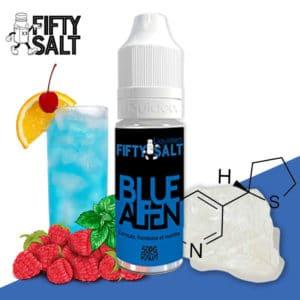 e-liquide fruité, e-liquide frais, meilleur e-liquide menthe, meilleur e-liquide mentholé, e liquide fifty, fifty salt blue alien, fifty salt blue alien prix, e-liquide sel de nicotine, sel de nicotine, nicotine liquide