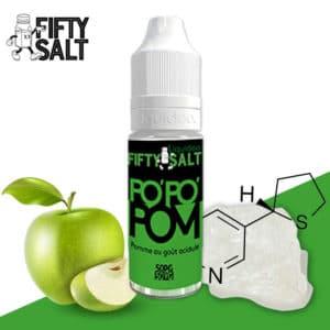 e-liquide pomme, pods e-liquide, e-liquide fruité, meilleur e-liquide pas cher, e liquide fifty, fifty salt popopom, fifty salt popopom prix, e-liquide sel de nicotine, sel de nicotine, nicotine liquide