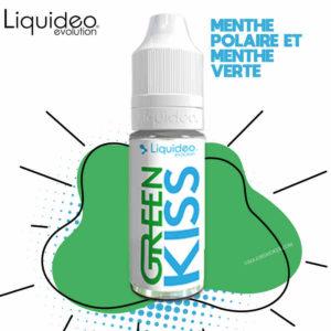 liquideo green kiss, recharge e-liquide 10 ml, e-liquide pas cher, e-liquide menthol, e-liquide menthe fraiche, e-liquide frais, e-liquide green kiss, e-liquide au meilleur prix, e-liquide mentholé, e-liquide mentholé