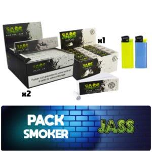 Pack fumeur Jass, jass slim, jass filtre tips, jass pas cher, jass prix, feuille jass prix