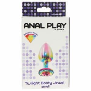 Bijou anal Twilight Rainbow, plug anal debutant, plug anal pour homme, plug anal xl, comment mettre un plug anal, petit plug anal, mini plug anal, plug anal public, plug anal utilisation, dorcel plug anal