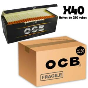 tube ocb 250 prix, tube cigarette ocb, tube de 8, boite pas cher, prix boite tube ocb 250, prix des tubes ocb, ocb, prix feuille ocb, feuille ocb, ocb slim